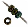 Miyuki Seed Bead 11/0 Green Opaque Iris